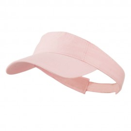 Cotton Twill Washed Soft Visors-Lt Pink
