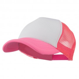Cotton Trucker Cap-Neon Pink