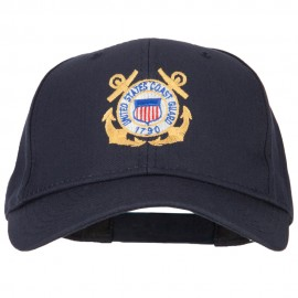 US Coast Guard Anchors Embroidered Solid Cotton Pro Style Cap