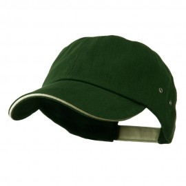 Contrast Ultra Heavy Weight Brushed Cotton Twill Cap - Forest Khaki