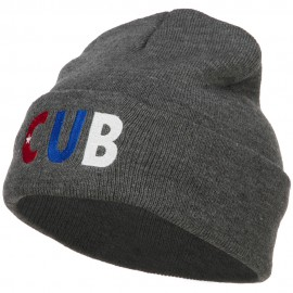 Cuba CUB Flag Embroidered Long Beanie