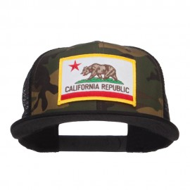 California Republic Patched Camo Mesh Snapback