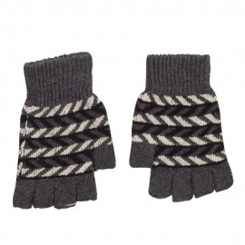 Men's Chevron Fingerless Knit Glove