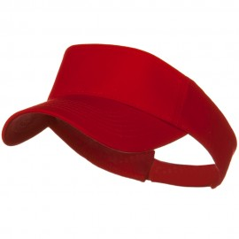 Cotton Twill Sun Visor - Red
