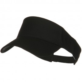 Cotton Twill Sun Visor - Black