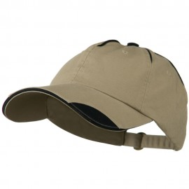 Low Profile Unstructured Cotton Washed Cap - Khaki Navy