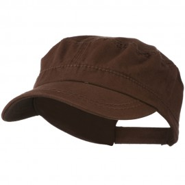 Colorful Washed Military Cap - Brown