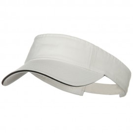 Prostyle Cotton Twill Washed Sandwich Visor - White Black