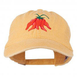 Chili Ristra Embroidered Washed Cap