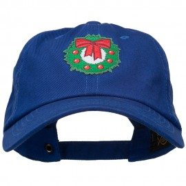 Christmas Wreath Patched Washed Cap