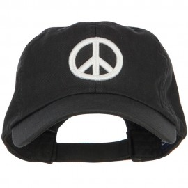 3D Peace Symbol Embroidered Low Profile Cap