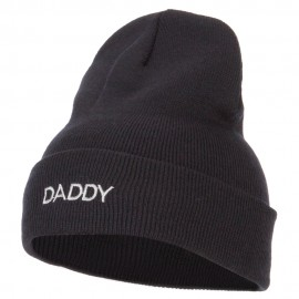 Word of Daddy Embroidered Long Beanie