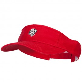 Dalmatian Head Embroidered Pro Style Cotton Washed Visor
