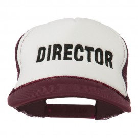 Director Embroidered Foam Mesh Back Cap