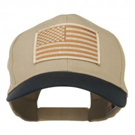 Desert American Flag Patched Two Tone High Cap