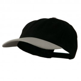 Deluxe Brushed Cotton Two Tone Cap - Black Grey
