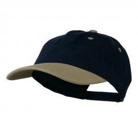 Deluxe Brushed Cotton Two Tone Cap - Navy Khaki