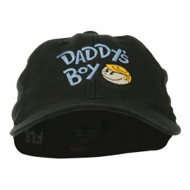 Daddy's Boy Embroidered Youth Flexfit Garment Washed Cap