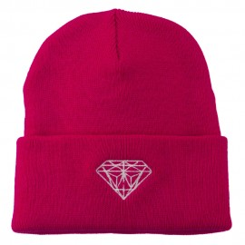 Diamond Embroidered Long Beanie