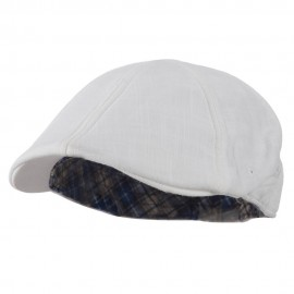 Plain Duck Bill Ivy Hat - White
