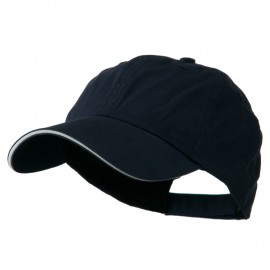 Low Profile Deluxe Canvas Cap - Navy White