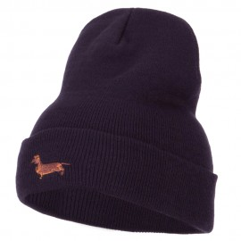 Dachshund Embroidered Long Beanie