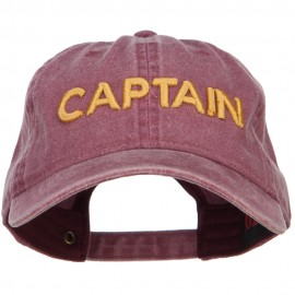3D Captain Embroidered Washed Buckle Cap