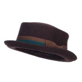 Men's Wool Felt Pork Pie Fedora - Dk Chocolate