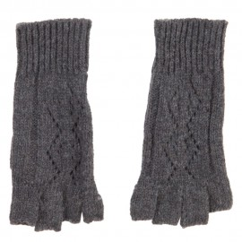 Women's Diamond Design Fingerless Glove