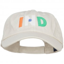 India IND Flag Embroidered Low Profile Cap