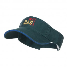 Number 1 Dad Outline Embroidered Sandwich Visor