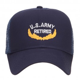 US Army Retired Emblem Embroidered Mesh Cap