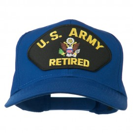 US Army Retired Military Patched Cap