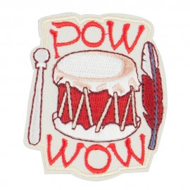 Drum Embroidered Patch