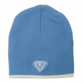 Diamond Embroidered Short Beanie