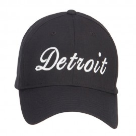 City of Detroit Embroidered Cotton Cap