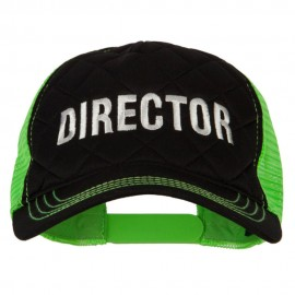 Director Embroidered Big Size Two Tone Neon Mesh Cap