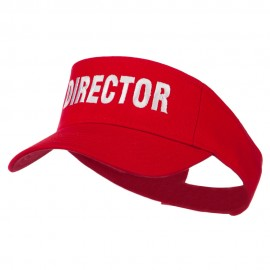 Director Embroidered Sun Visor