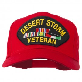 Desert Storm Veteran Patched Cotton Twill Cap - Red