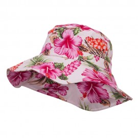 Ladies Wide Brim Floral Hat