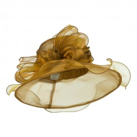 Two Tone Double Glass Organza Hat