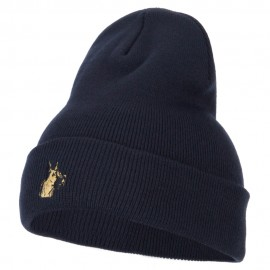 Great Dane Head Embroidered Long Beanie