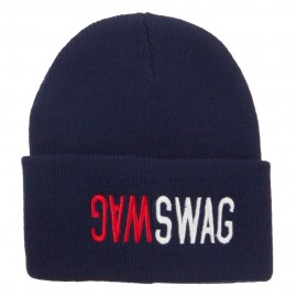 SWAG SWAG Embroidered Long Beanie