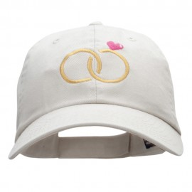 Dual Rings Embroidered Low Profile Dyed Cotton Twill Cap
