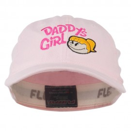 Daddy's Girl Embroidered Youth Flexfit Garment Washed Cap