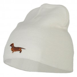 Dachshund Dog Embroidered Knitted Short Beanie