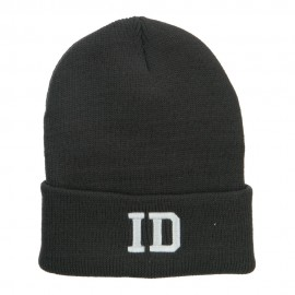ID Idaho State Embroidered Long Beanie