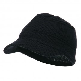 Army Jeep Style Beanie Cap - Navy