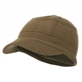 Army Jeep Style Beanie Cap - Taupe