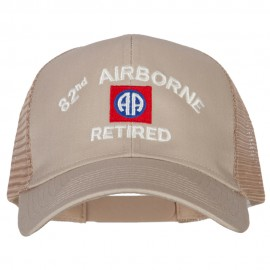 82nd Airborne Retired Embroidered Solid Cotton Mesh Pro Cap
